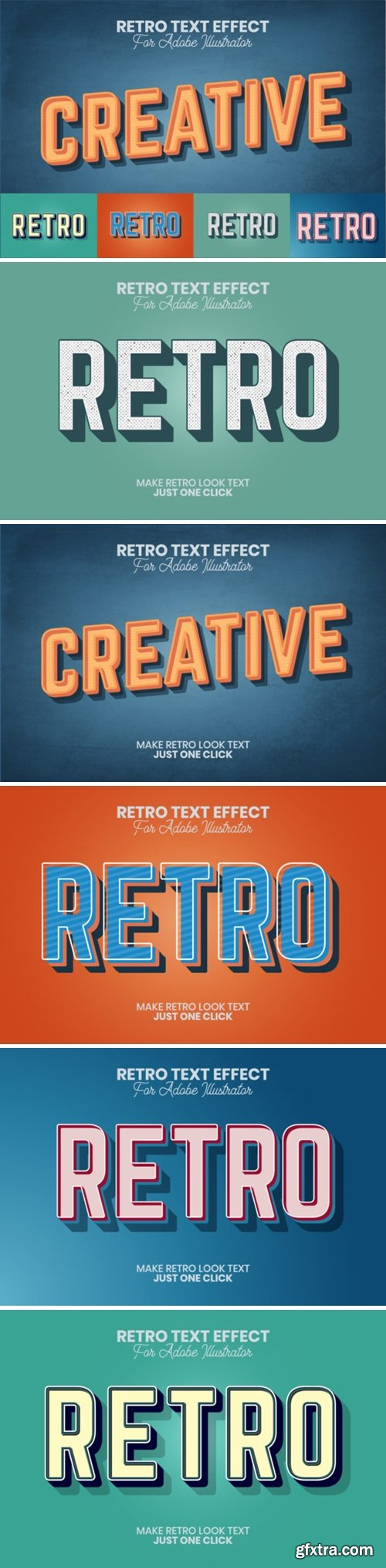 Retro Text Effect for Illustrator 4405404