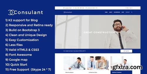 ThemeForest - Consulant v2.0 - Corporate & Business Joomla Template (Update: 8 September 18) - 17374463
