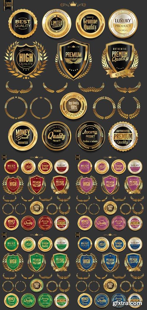 400+ Golden Labels Vector Graphics