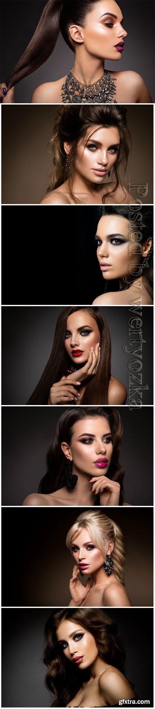 Fashion girls beautiful stock photo