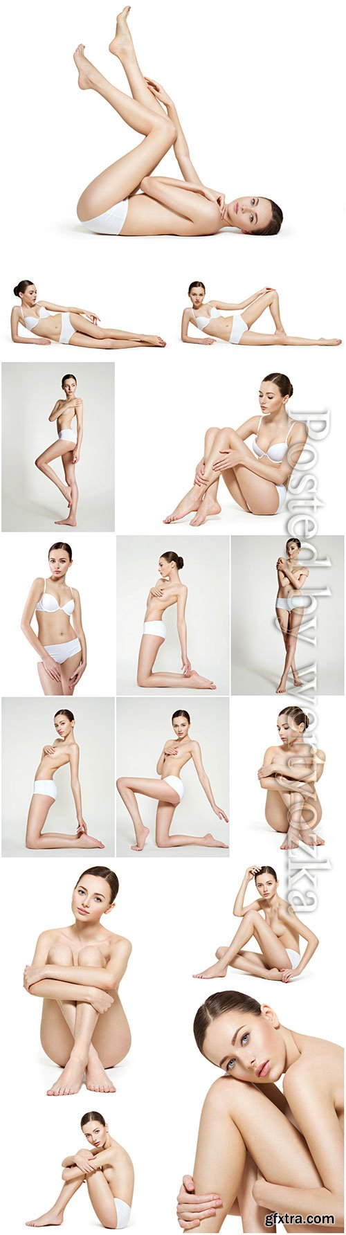 Woman with perfect body and legs beautiful stock photo