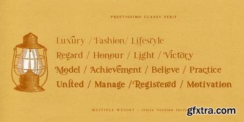 Prestissimo Classy Font Family