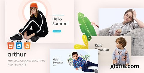 Arthur - Minimal, Clean & Beautiful PSD Template 23715996