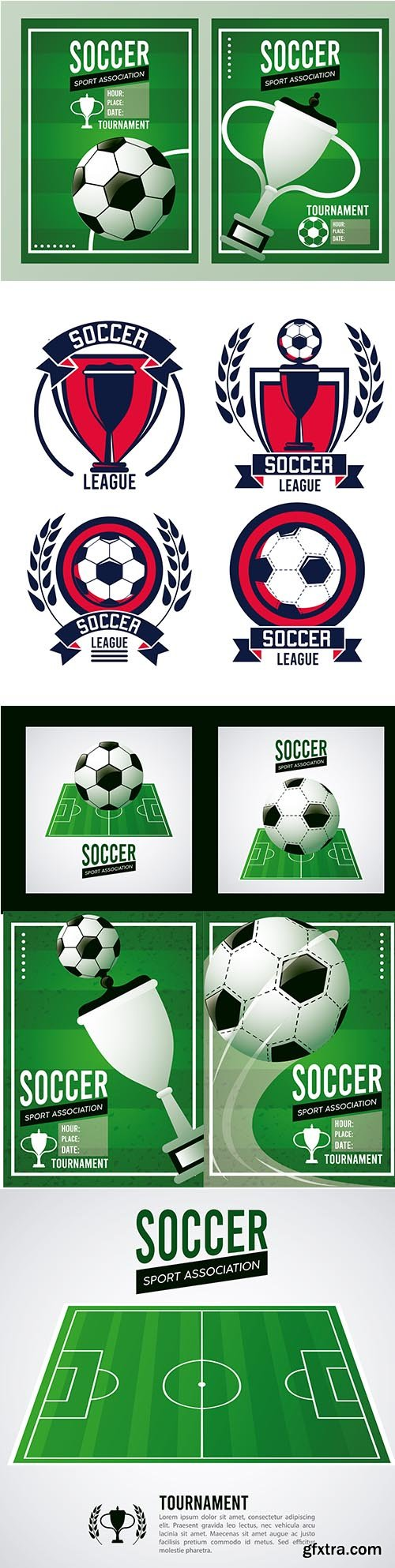 Soccer League Sport Poster with Football Camp