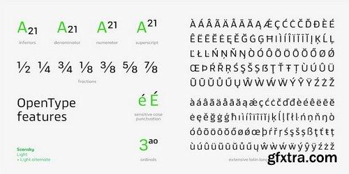 Scansky Font Family