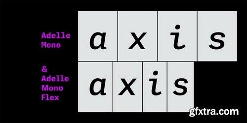 Adelle Mono Font Family