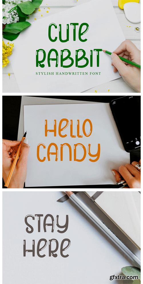 Cute Rabbit Font