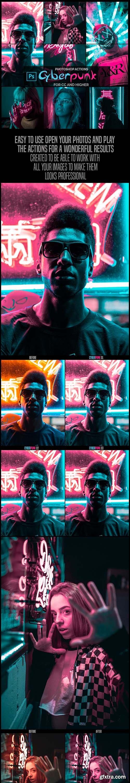 GraphicRiver - Cyberpunk - Photoshop Actions 26311519