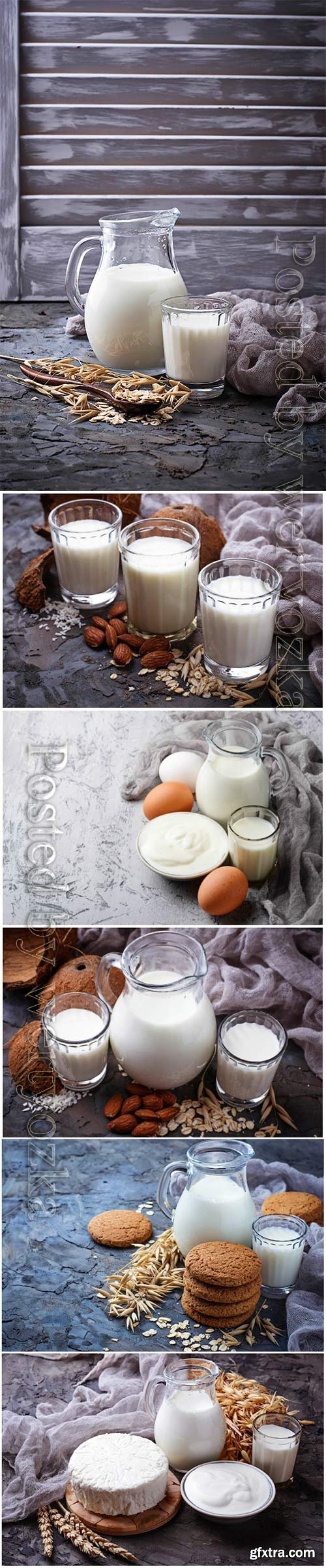 Milk, sour cream and eggs