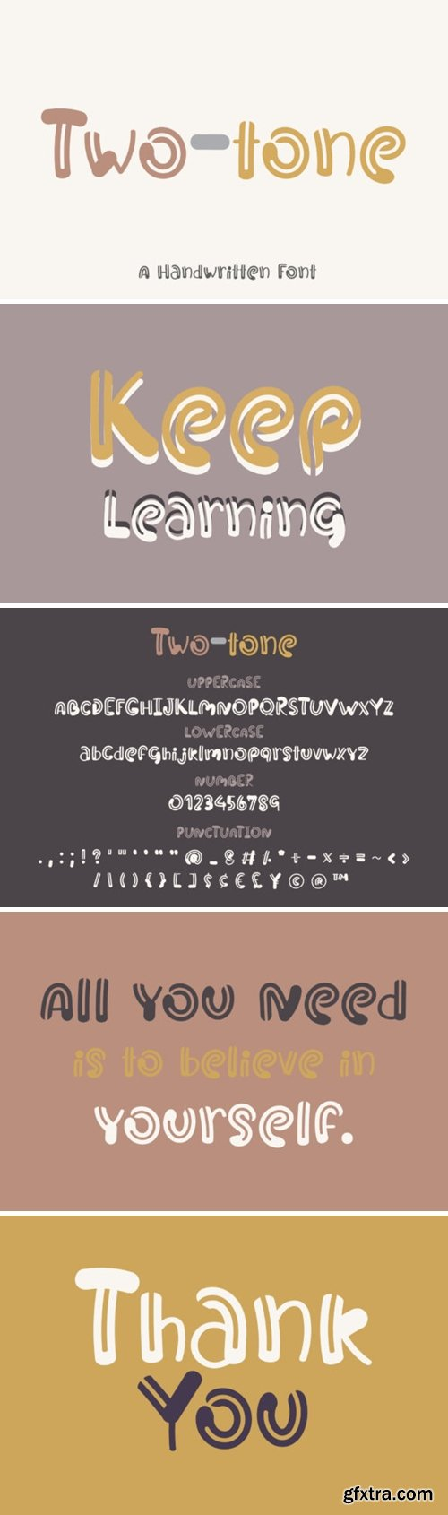 Two-tone Font