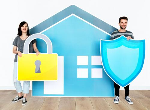 Home security and protection concept shoot - 451575