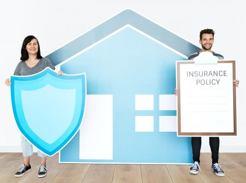 People and home insurance concept - 451585
