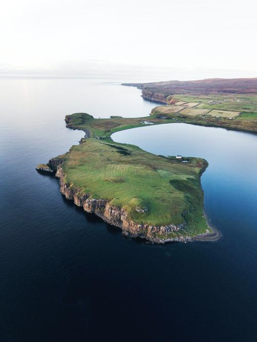 Isle of Skye at Scotland drone shot - 1233499