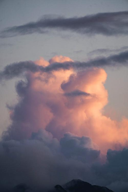 Pastel cloudy sky background - 1233505