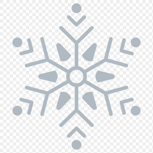 Christmas snowflake social ads template transparent png - 1234113