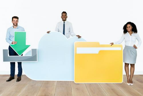 Cloud storage and download concept shoot - 451624