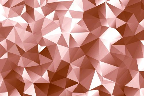 Pink gold polygon abstract background design - 596819