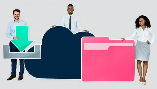 Cloud storage and download concept shoot - 450546