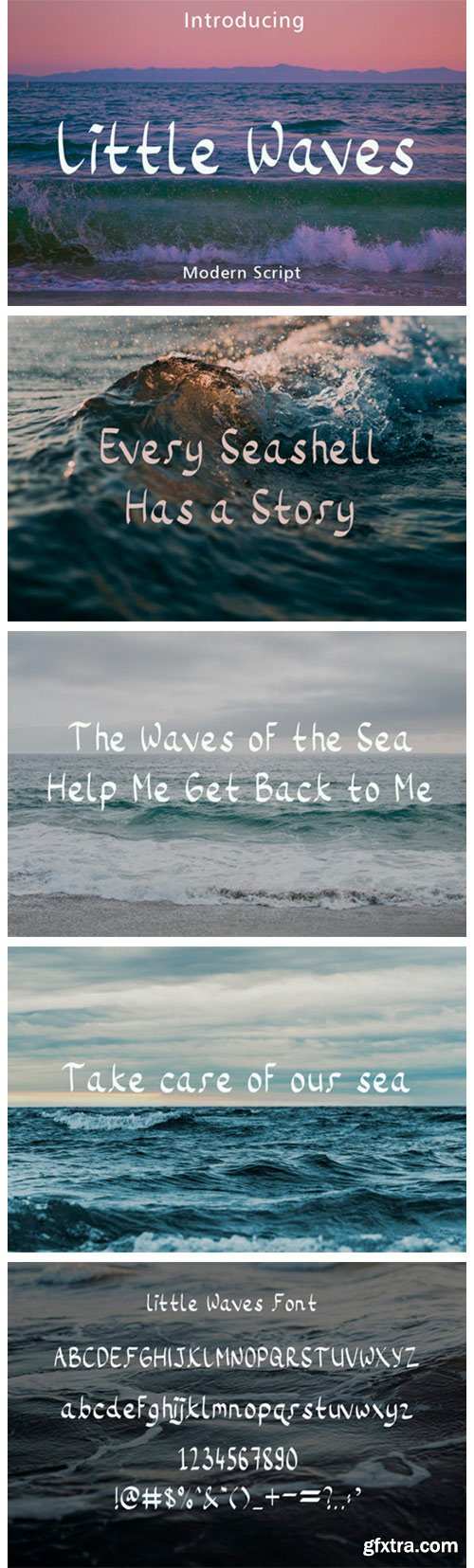 Little Waves Font