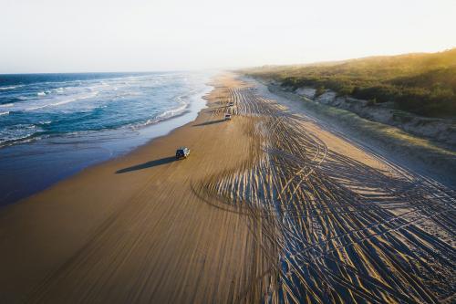 Cars driving on a beach - 843897