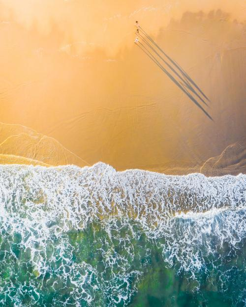 Beautiful coastline with clear sea water drone photograph - 843911