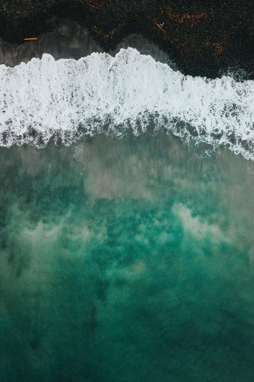 Drone shot of Talisker Bay on the Isle of Skye in Scotland - 935813
