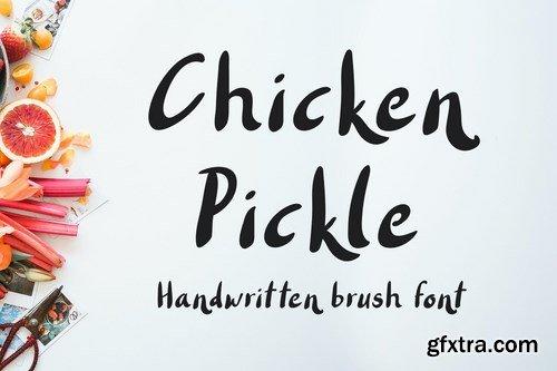 Chicken Pickle - Brush Font