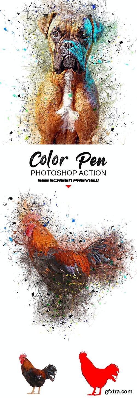GraphicRiver - Color Pen Photoshop Action 27021780