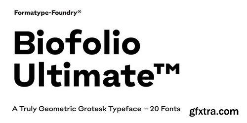 Biofolio Ultimate Font Family