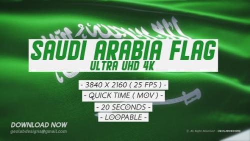 Videohive - Saudi Arabia l KSA Flag - Ultra UHD 4K Loopable