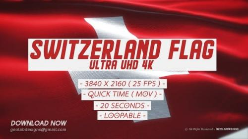 Videohive - Switzerland Flag - Ultra UHD 4K Loopable