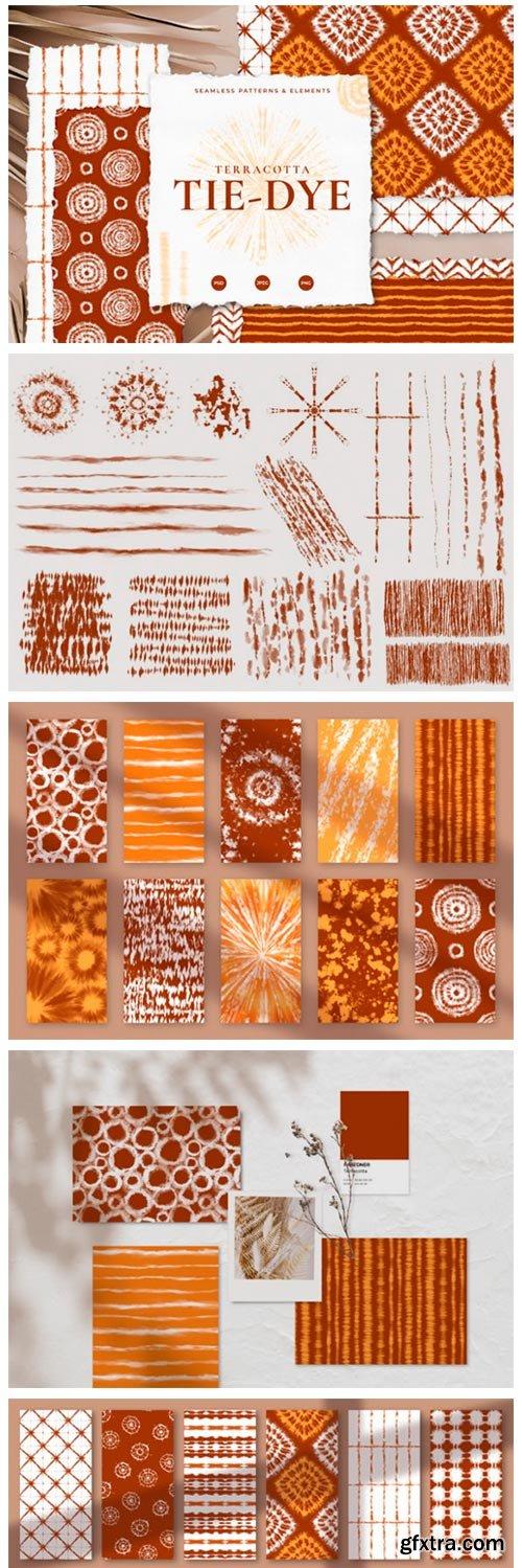 Seamless Terracotta Tie-Dye Patterns 4559026