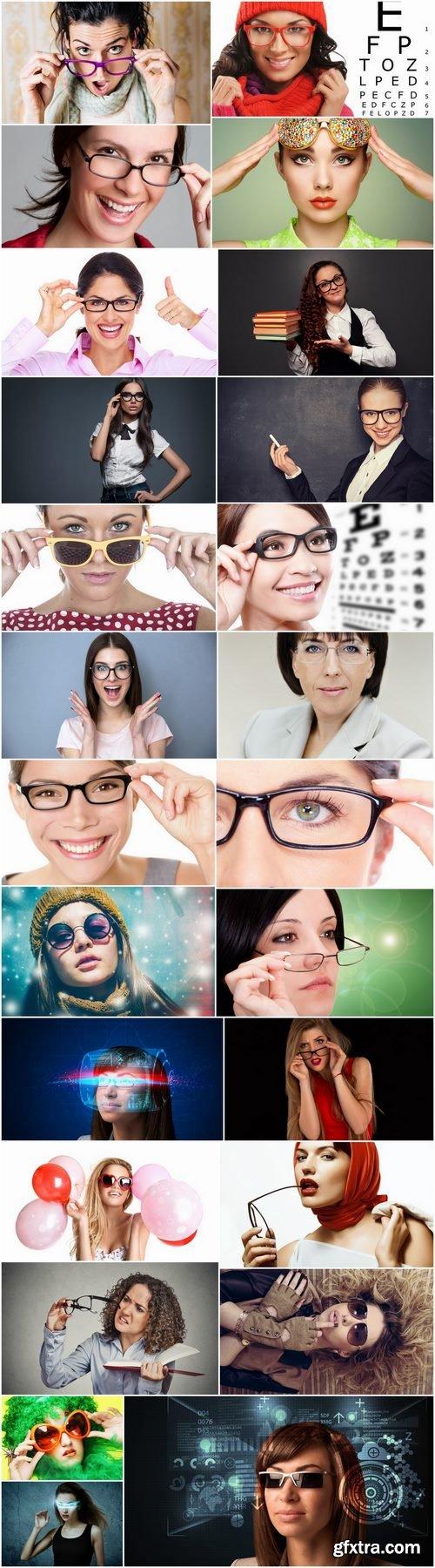 Girl woman glasses top model 25 HQ Jpeg