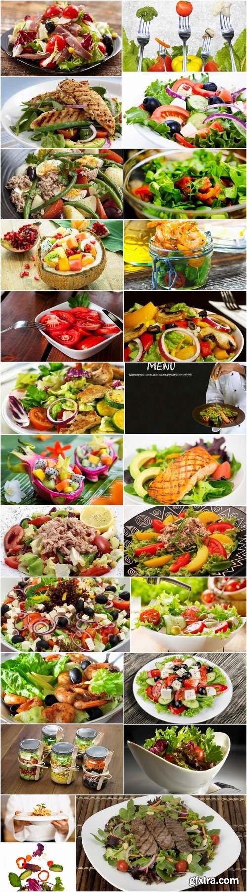 Various types of lettuce Greek seafood shrimp vegetable fruit 25 HQ Jpeg