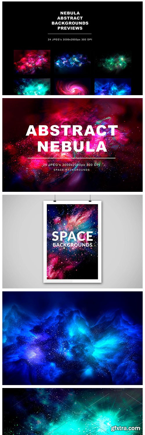 CM - Abstract Nebula Backgrounds 3405179
