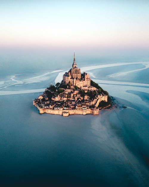Mont Saint-Michel island in Normandy, France - 1017136