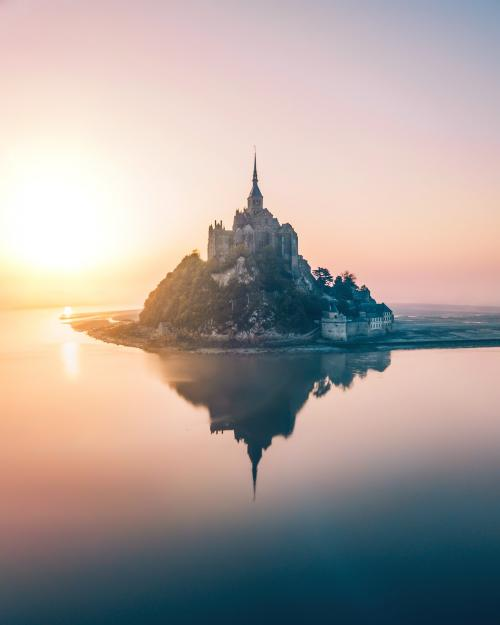 Mont Saint-Michel island in Normandy, France - 1017153