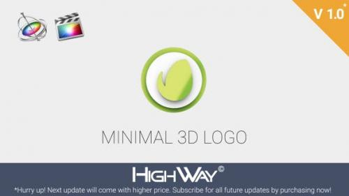 Videohive - Minimal 3D Logo Reveal | Apple Motion & FCPX