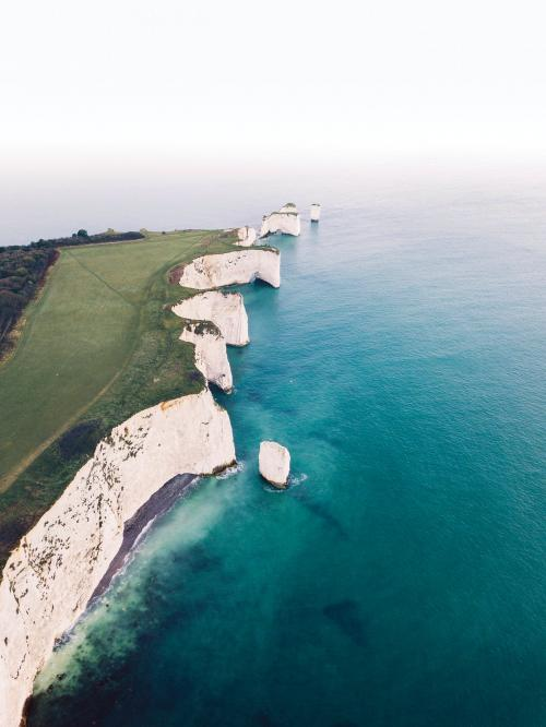 Old Harry Rocks on the Isle of Purbeck in Dorset, southern England - 1017157
