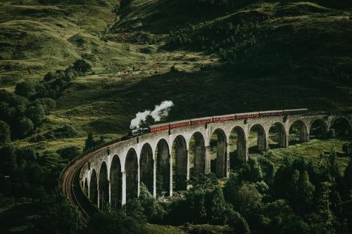 Glenfinnan Viaduct railway in Inverness-shire, Scotland - 1017163
