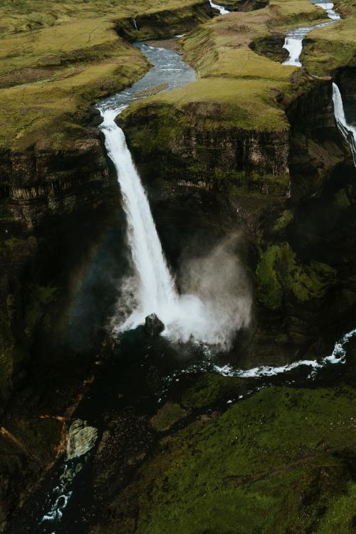 Haifoss waterfall in Iceland - 1017167