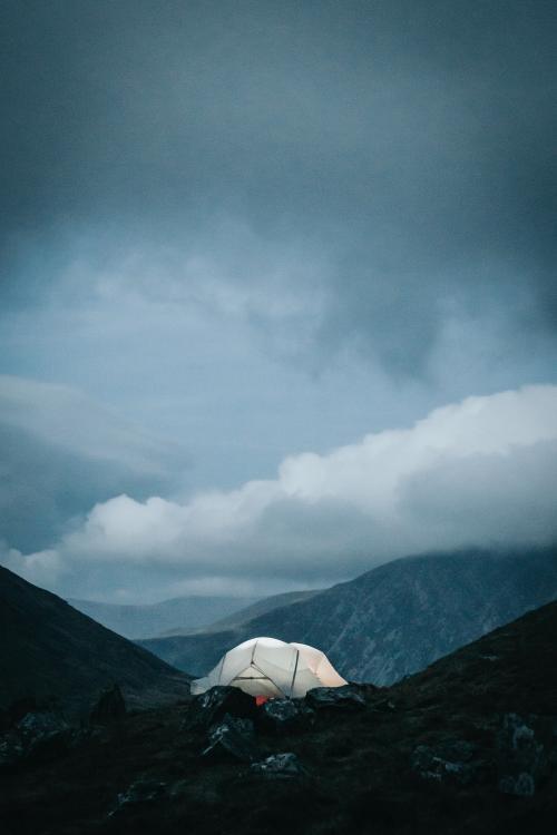 Camping in Snowdonia National Park in Gwynedd, Wales - 1017168
