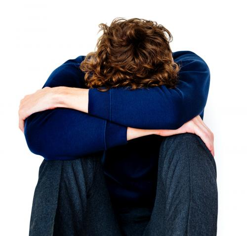 Student young man stressed unhappy failed alone - 7332