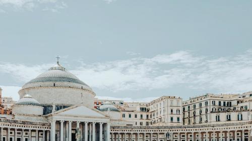 Piazza del Plebiscito, public square in central of Naples, Italy - 1198348