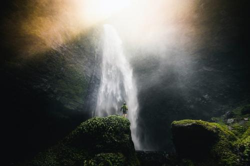 View of waterfall in Java, Indonesia - 1198830