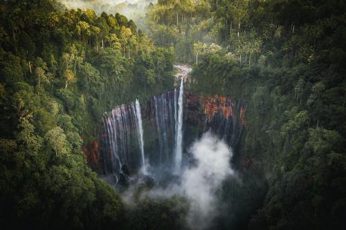 View of Tumpak Sewu Waterfalls, Indonesia - 1204777