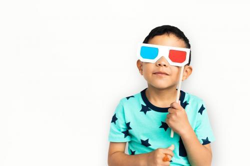 Little Boy With 3D Glasses Concept - 6839
