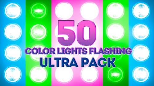 Videohive - Color Lights Flashing Ultra Pack