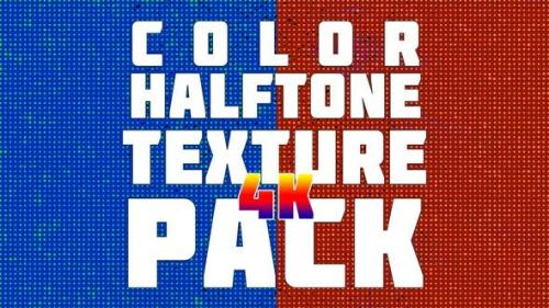 Videohive - Color Halftone Texture Pack 4K