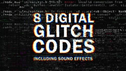 Videohive - 8 Digital Glitch Codes
